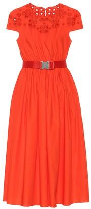 Fendi Belted cotton dress