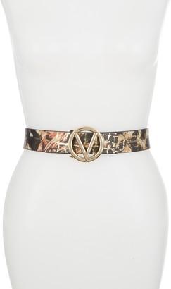 Mario Valentino Guisy Wild Gold Leather Belt