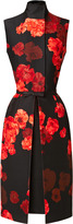 Giambattista Valli Wool-Blend Floral Printed Dress