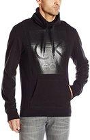Calvin Klein Jeans Men's Textured Logo Funnel Neck