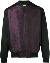 Versace embroidered bomber jacket - men - Cotton/Polyamide/Polyester/Viscose - 46