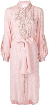 Camilla Crystal-Embellished Tied-Waist Dress