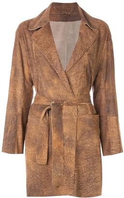 Sylvie Schimmel belted wrap coat
