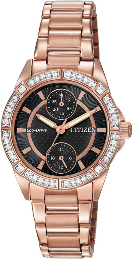 Citizen Women's Drive from Eco-Drive Rose Gold-Tone Stainless Steel Bracelet Watch 33mm FD3003-58E