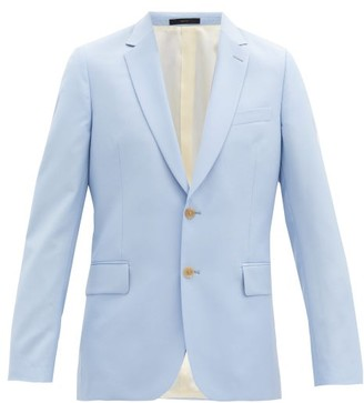 Paul Smith Soho-fit Single-breasted Wool-blend Jacket - Mens - Light Blue
