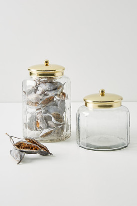 Anthropologie Janie Glass Canister By in Brown Size S