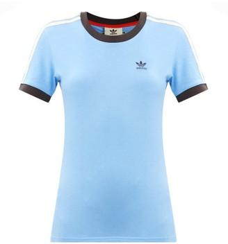 Adidas X Wales Bonner - Logo-embroidered Cotton-blend Jersey T-shirt - Blue