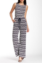 Taylor Sleeveless Knit Flared Jumpsuit 5278M