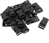 uxcell® Plastic Webbing Straps Clasp Side Quick Release Buckle 5/8 Inch 20 Pcs