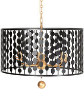 Crystorama Exclusive Layla Chandelier, Black/Gold