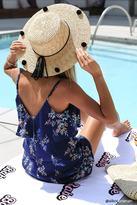 Forever 21 FOREVER 21+ Pom Pom Straw Boater Hat