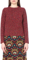 Valentino Chunky-knit cotton and wool-blend jumper