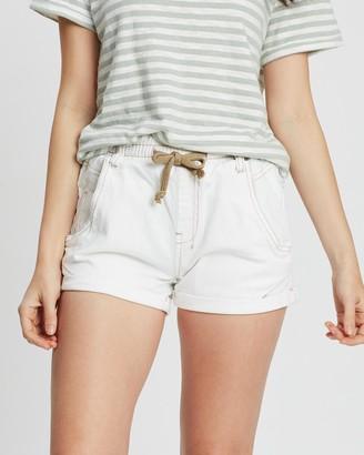 DRICOPER DENIM - Women's White Denim - Active Denim Shorts - Size One Size, 7 at The Iconic