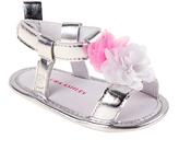 Laura Ashley Silver & Pink Flower Sandal