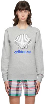 Noah NYC Grey adidas Edition Shell Logo Sweatshirt