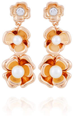 T Tahari Fall in Love with Florals Drop Earring