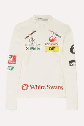 Off-White Off White Printed Stretch-jersey Top