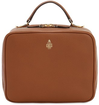 Mark Cross Laura Grained Leather Top Handle Bag