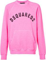 DSQUARED2 logo front pocket sweatshirt - men - Cotton - S