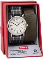 Timex Weekender 38 Box Set Womens Green 2-pc. Watch Boxed Set-Twg015300jt