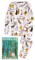 Girl's Books To Bed Madeline Fitted Two-Piece Pajamas & Book Set