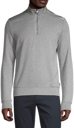 HUGO BOSS Sidney Zip-Neck Pullover