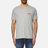 HUGO Men's Durned Small Logo TShirt - Open Grey