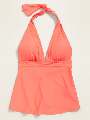 Old Navy Peplum-Hem Halter Tankini Swim Top for Women