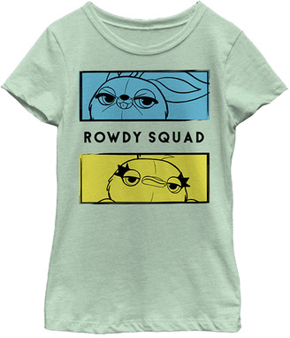 Fifth Sun Girls' Tee Shirts MINT - Toy Story Mint Ducky & Bunny 'Rowdy' Boxes Fitted Tee - Girls