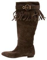 Louis Vuitton Suede Fringe Boots