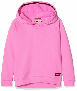 Scotch & Soda Girl's Longer Length Hoody with Placed Artworks Sweatshirt