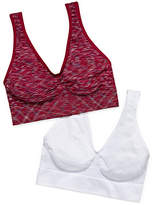 Hanes Get Cozy Comfortflex Fit Seamless 2-pc. Wireless Unlined Full Coverage Bra-Dhhb9f