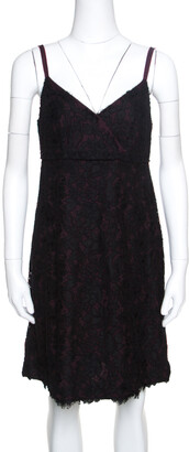 Dolce & Gabbana Black Floral Lace Sleeveless Dress M