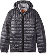 Tommy Hilfiger Men's Tall Size Ultra Loft Insulated Packable Jacket with Contrast Bib and Hood