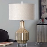 Uttermost 27129-1 Barron - One Light Table Lamp, Finish with Oatmeal Linen Fabric Shade