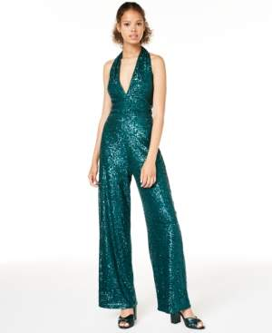 Jump Juniors' Sequined Jumpsuit