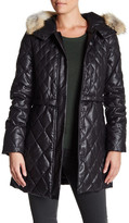 Andrew Marc Genuine Coyote Fur Quilted Ava Parka