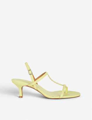 Who What Wear Romi heeled faux-leather sandals