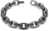 Zoppini Zo-Chain Stainless Steel and Black Enamel Link Bracelet