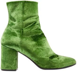 Balenciaga Green Velvet Boots