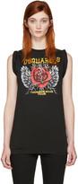 DSQUARED2 Black 'Thunder Rose Tour' T-Shirt