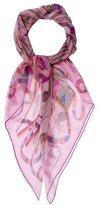Hermes Point D'Orgue Silk Mousseline Shawl