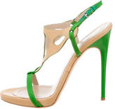 Philosophy di Alberta Ferretti Leather Buckled Sandals