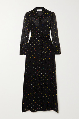 Diane von Furstenberg Jean Michel Printed Silk-chiffon Maxi Dress - Black