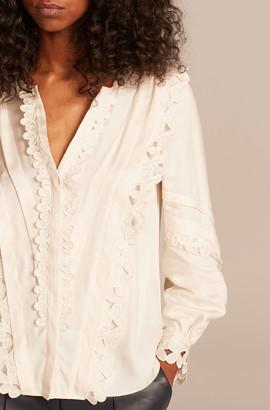 Rebecca Taylor Embroidered Silk Top
