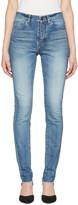Saint Laurent Blue Mid Waist Skinny Jeans