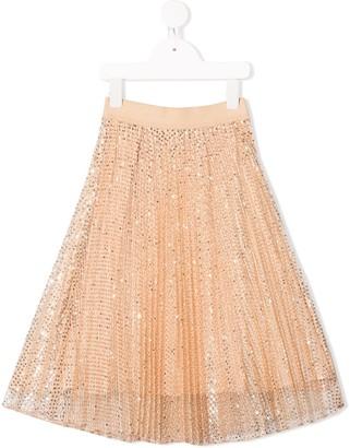 MonnaLisa pleated sequin skirt