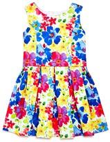 Us Angels Girls' Floral Print Dress - Little Kid