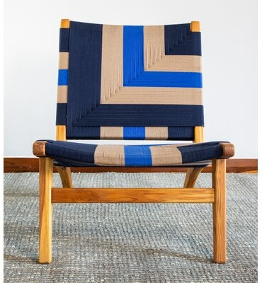 """Thumbnail for your product : Masaya & Co 24"""" Wide Polyester Lounge Chair"""