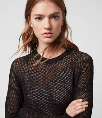 AllSaints Shine Mesh 2-in-1 Dress